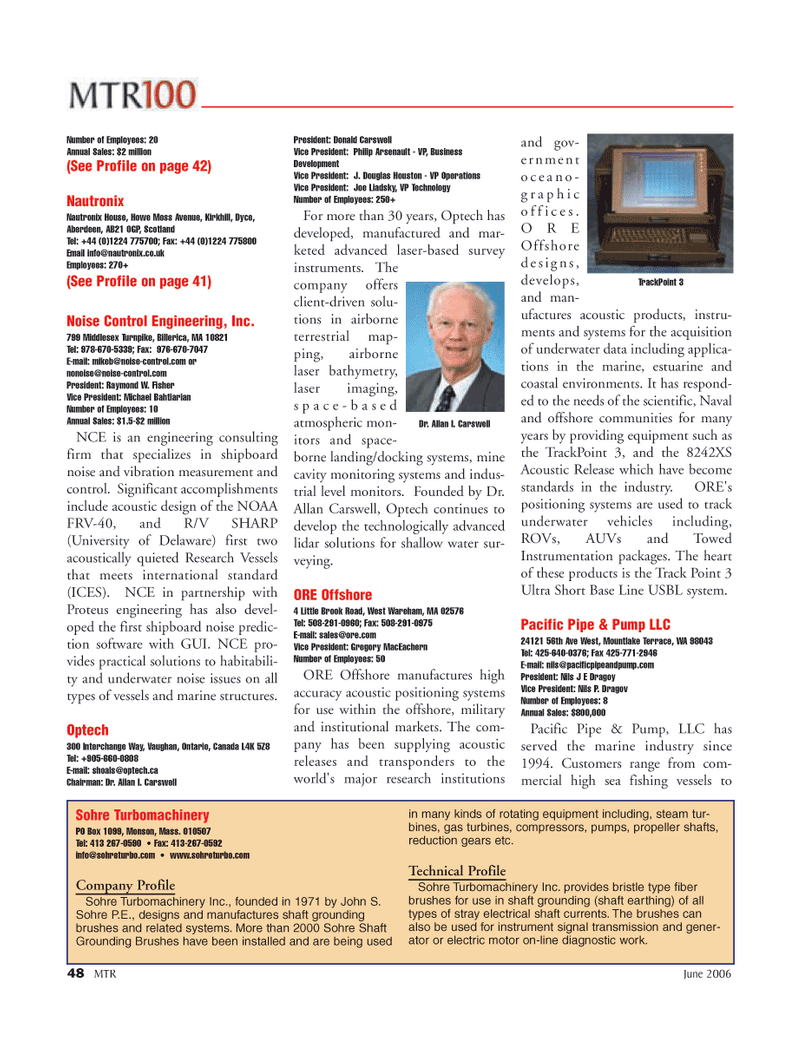 Marine Technology Magazine, page 48,  Jun 2006
