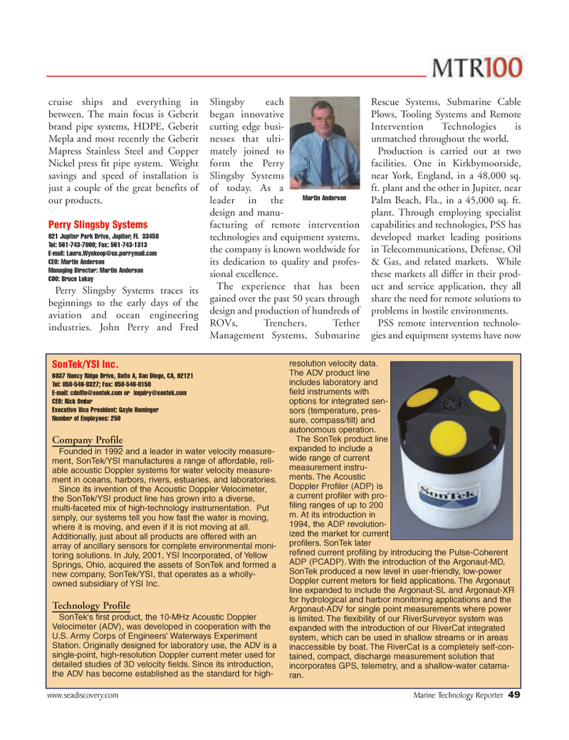Marine Technology Magazine, page 49,  Jun 2006
