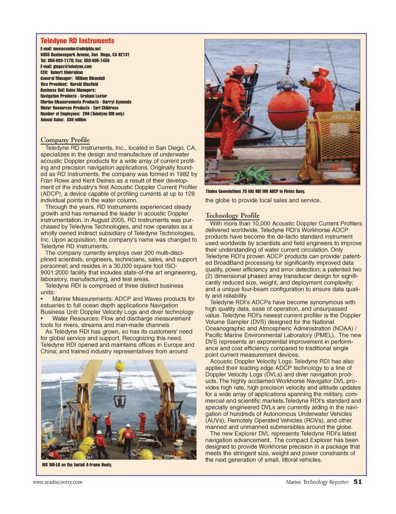 Marine Technology Magazine, page 51,  Jun 2006