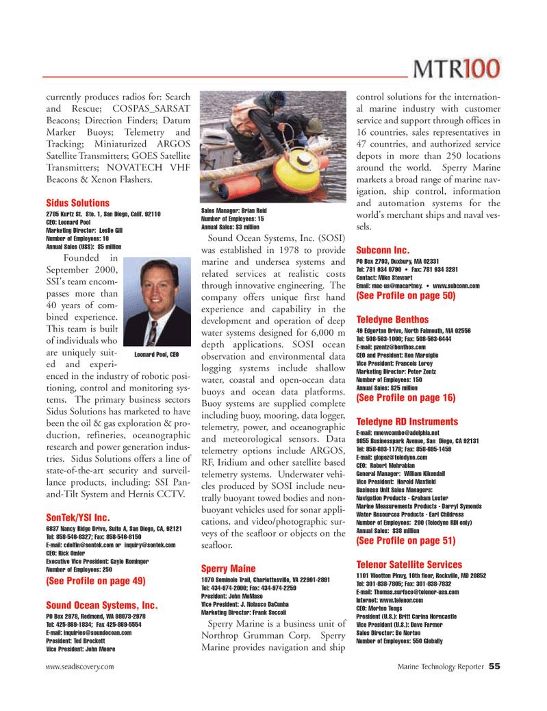 Marine Technology Magazine, page 55,  Jun 2006