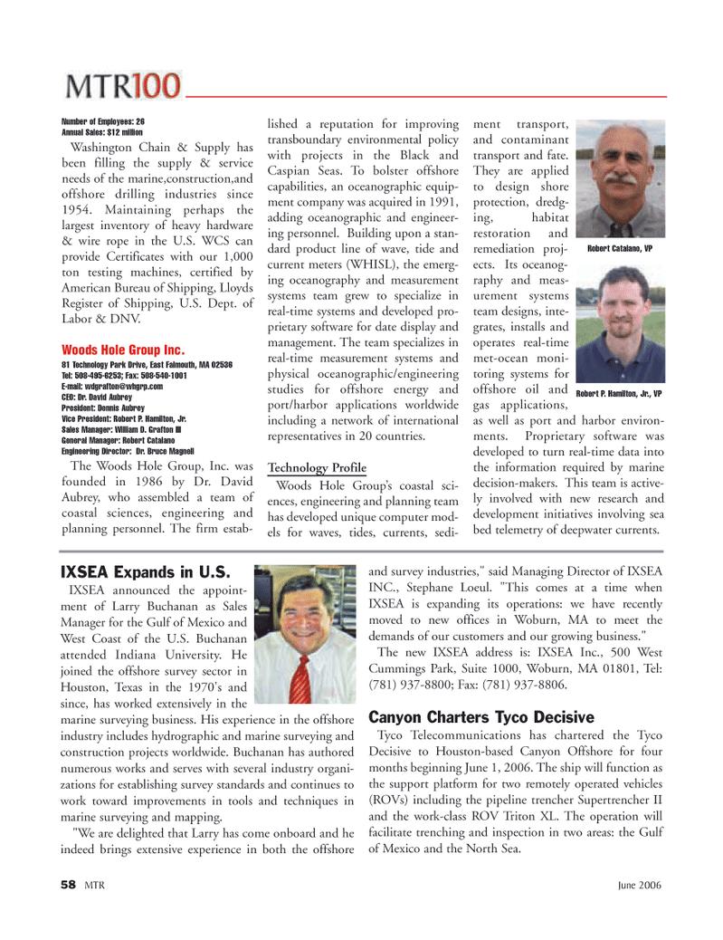 Marine Technology Magazine, page 58,  Jun 2006