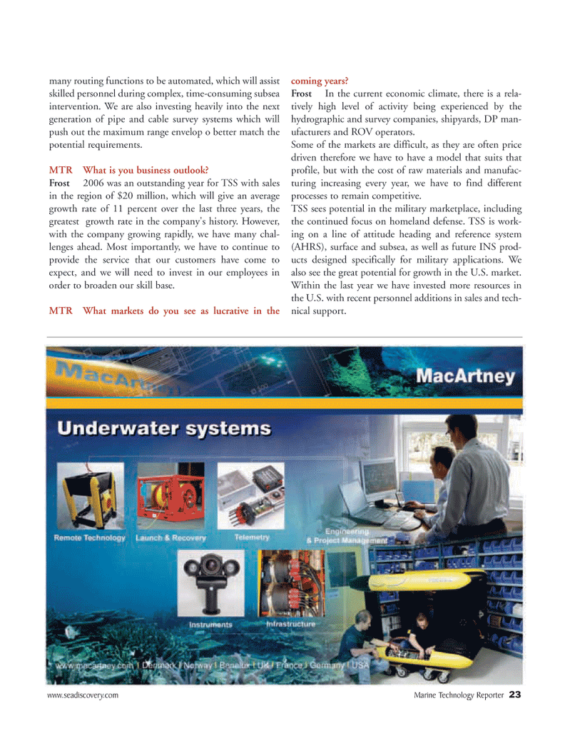 Marine Technology Magazine, page 23,  Mar 2007 United States