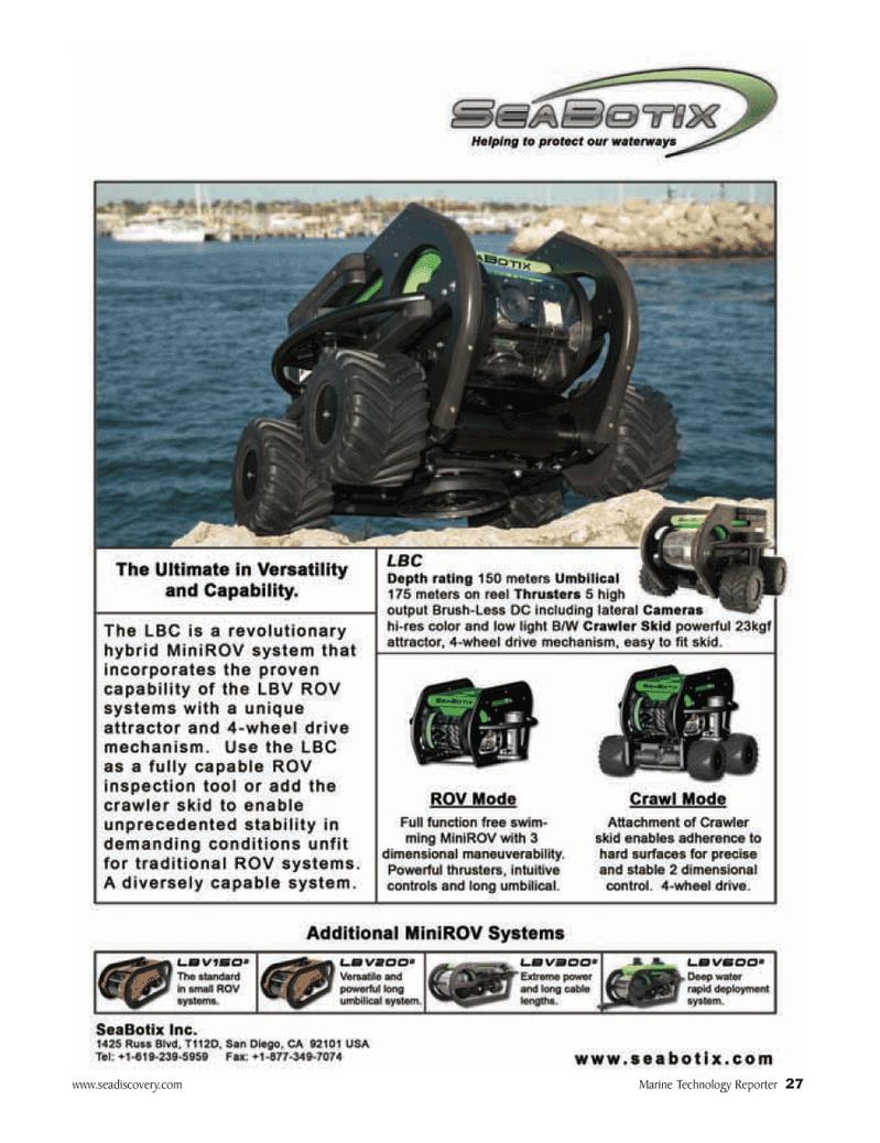 Marine Technology Magazine, page 27,  Mar 2007