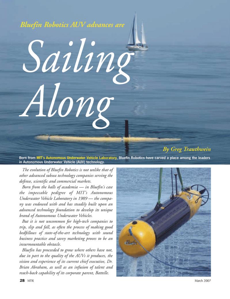 Marine Technology Magazine, page 28,  Mar 2007 Battelle