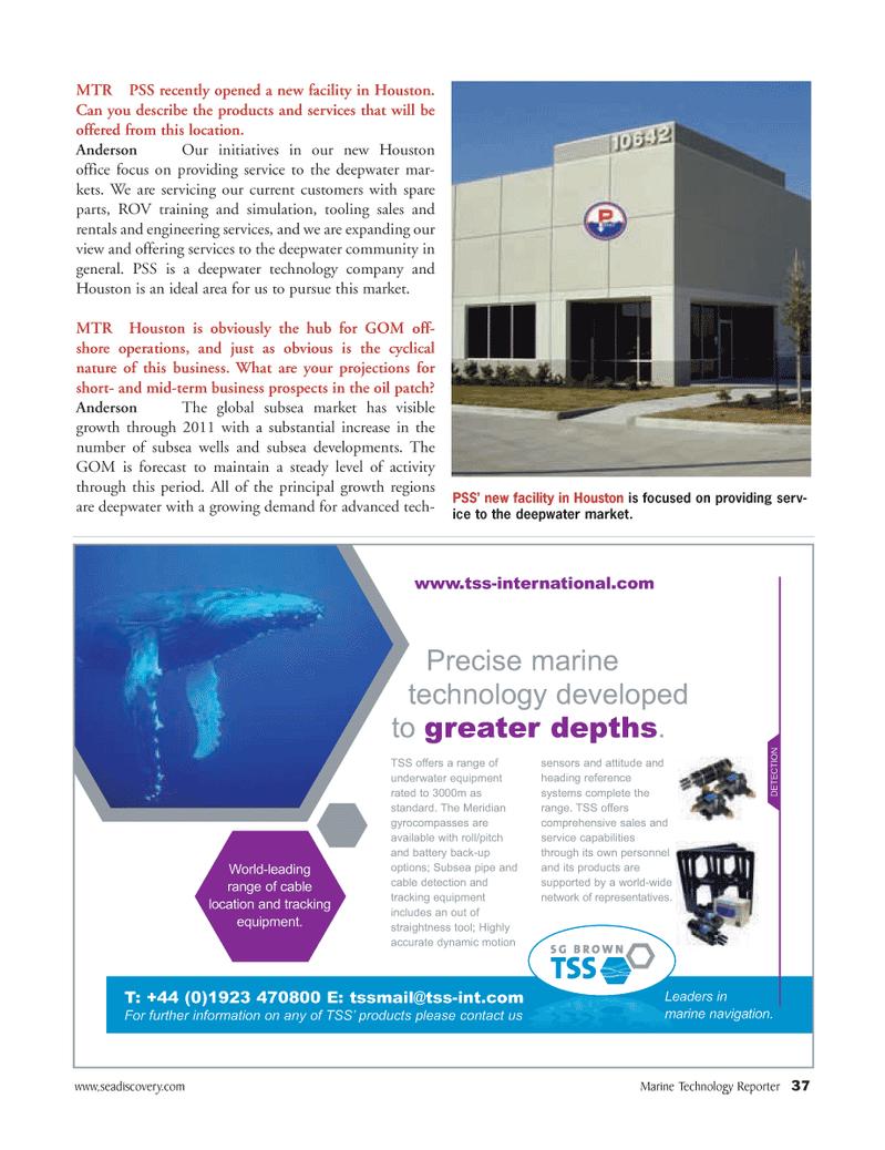 Marine Technology Magazine, page 37,  Mar 2007 seadiscovery.com Marine Technology