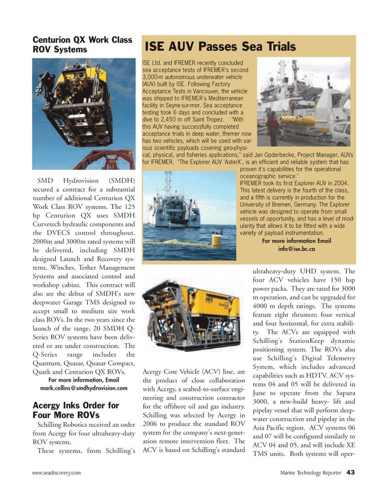 Marine Technology Magazine, page 43,  Mar 2007 Mediterranean