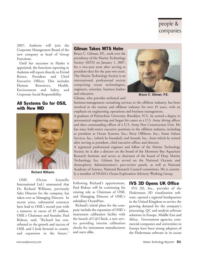 Marine Technology Magazine, page 51,  Mar 2007 E. Richard Williams