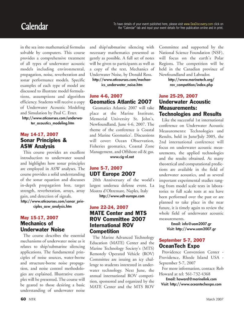 Marine Technology Magazine, page 60,  Mar 2007 Paul C. Etter