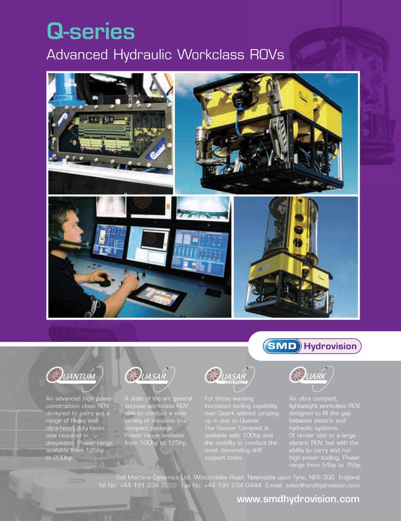 Marine Technology Magazine, page 5,  Mar 2007 Advanced Hydraulic Workclass ROVs Soil Machine Dynamics Ltd