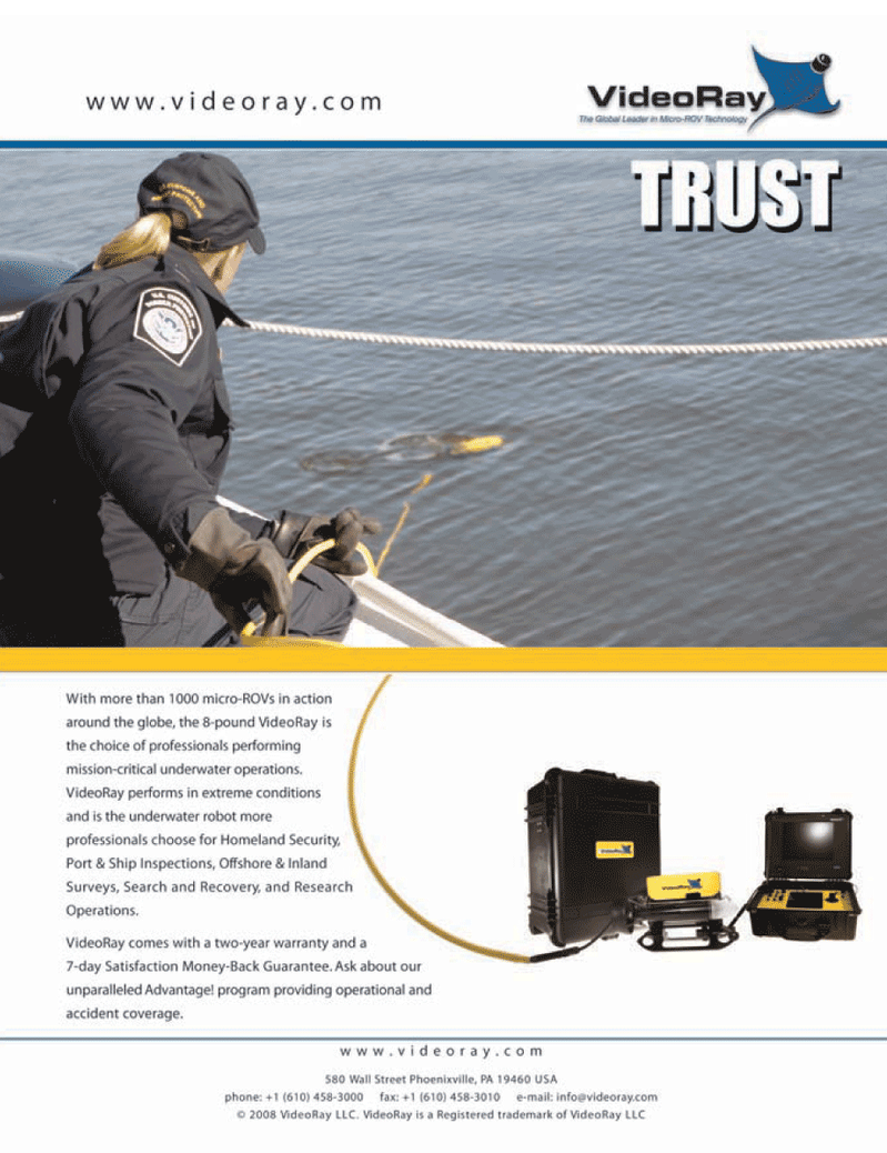 Marine Technology Magazine, page 2nd Cover,  May 2008