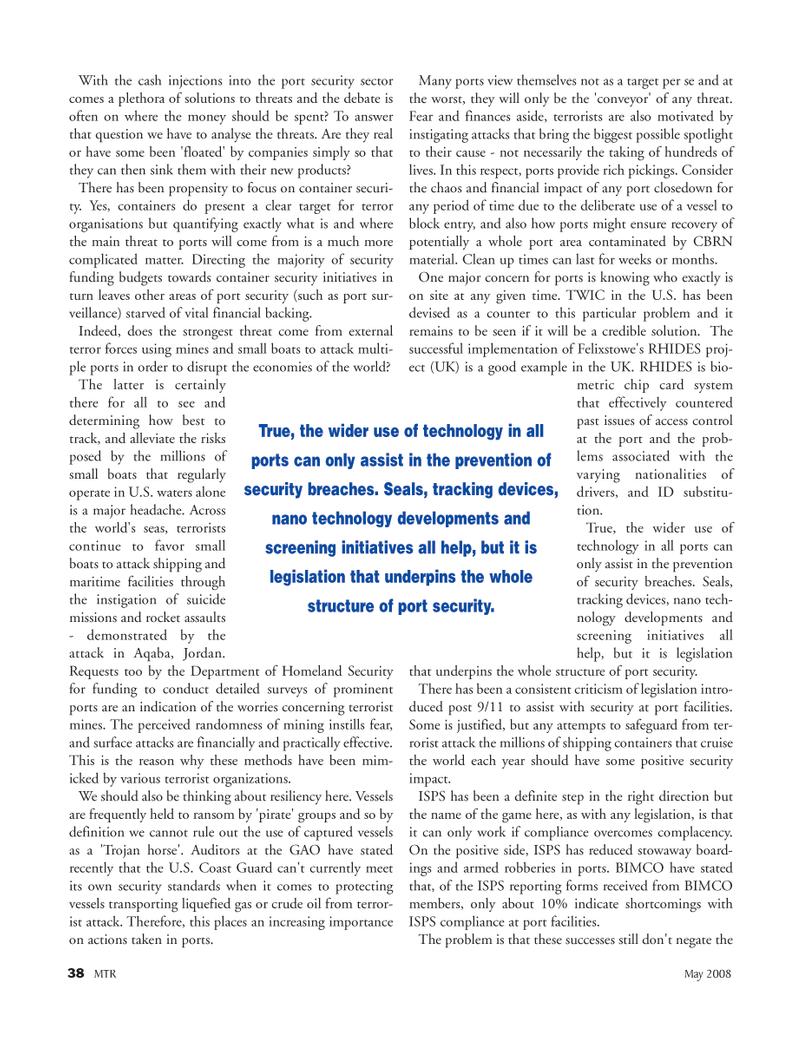 Marine Technology Magazine, page 38,  May 2008 liquefied gas