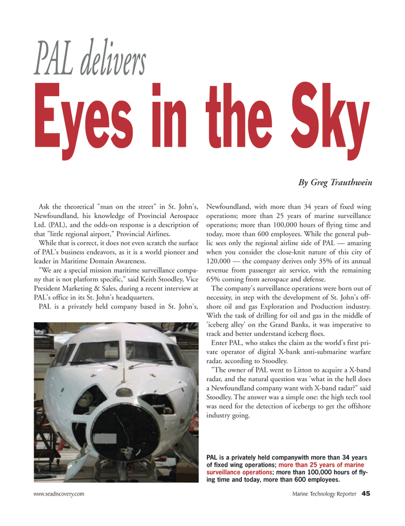 Marine Technology Magazine, page 45,  May 2008 airline side