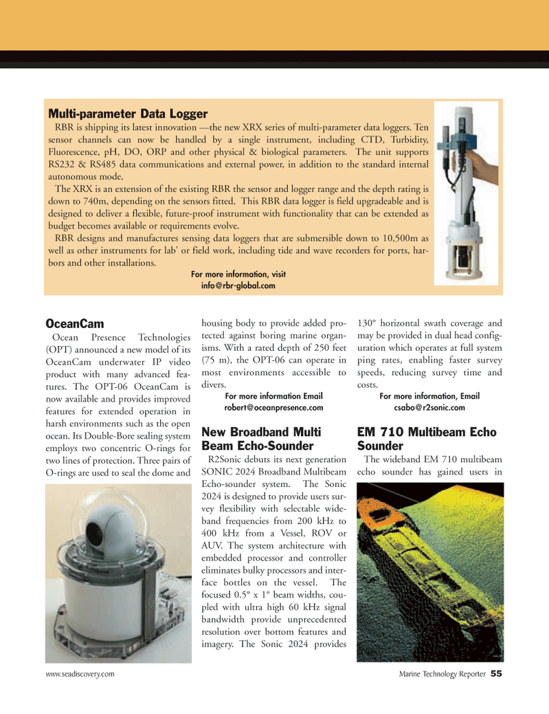 Marine Technology Magazine, page 55,  May 2008 Double-Bore sealing system