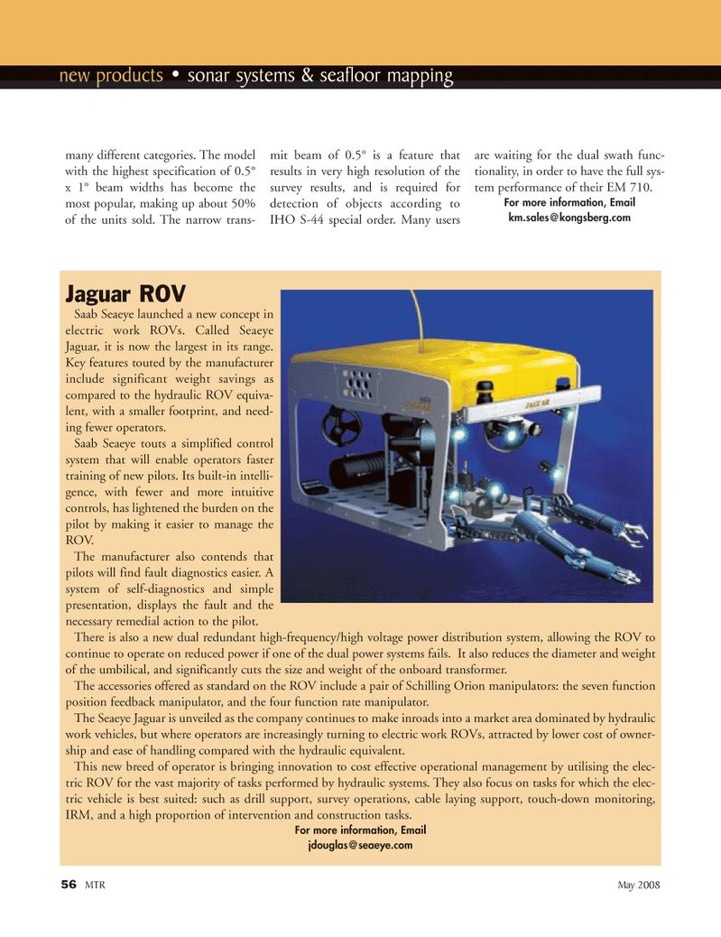 Marine Technology Magazine, page 56,  May 2008 operational management