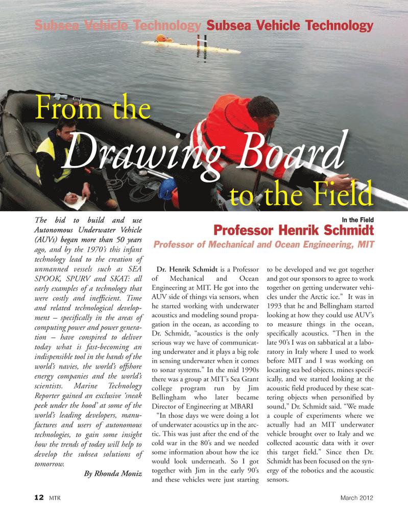 Marine Technology Magazine, page 12,  Mar 2012