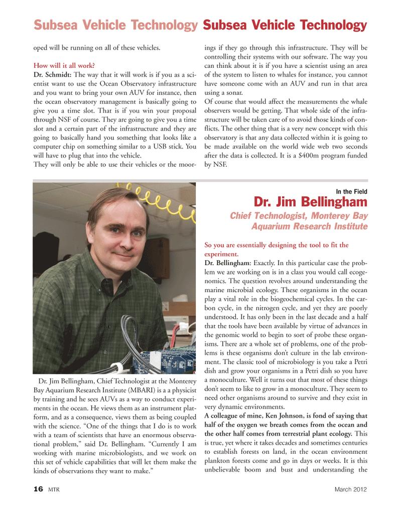 Marine Technology Magazine, page 16,  Mar 2012