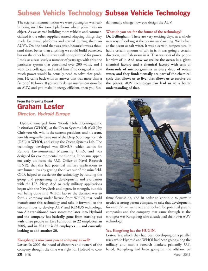 Marine Technology Magazine, page 20,  Mar 2012