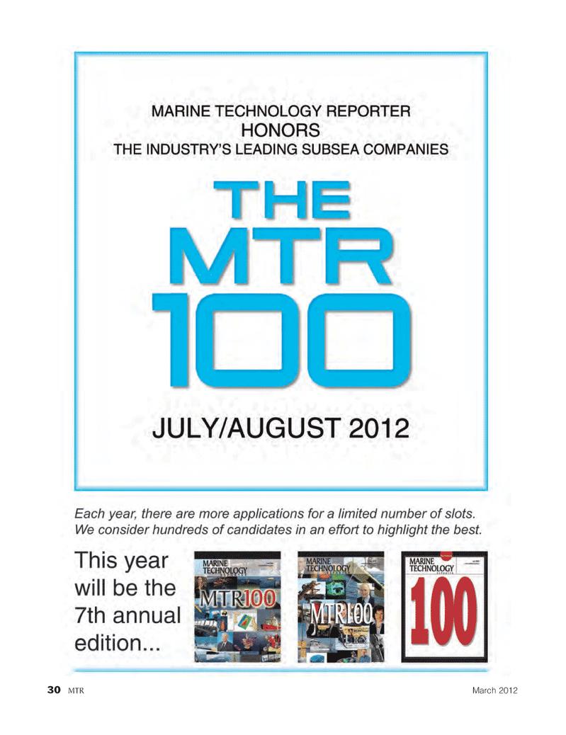 Marine Technology Magazine, page 30,  Mar 2012