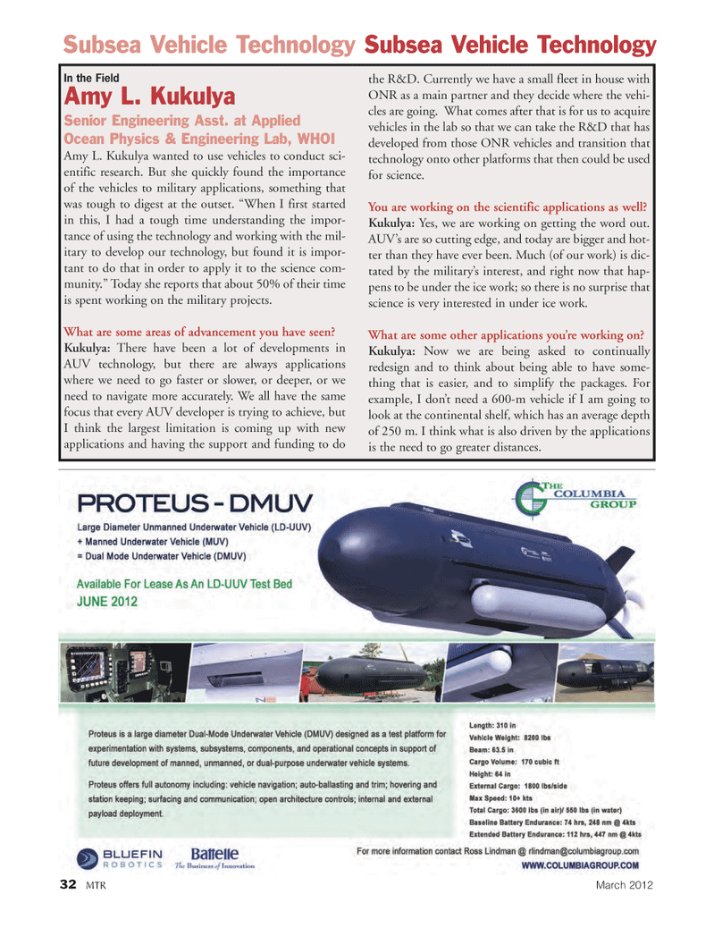 Marine Technology Magazine, page 32,  Mar 2012