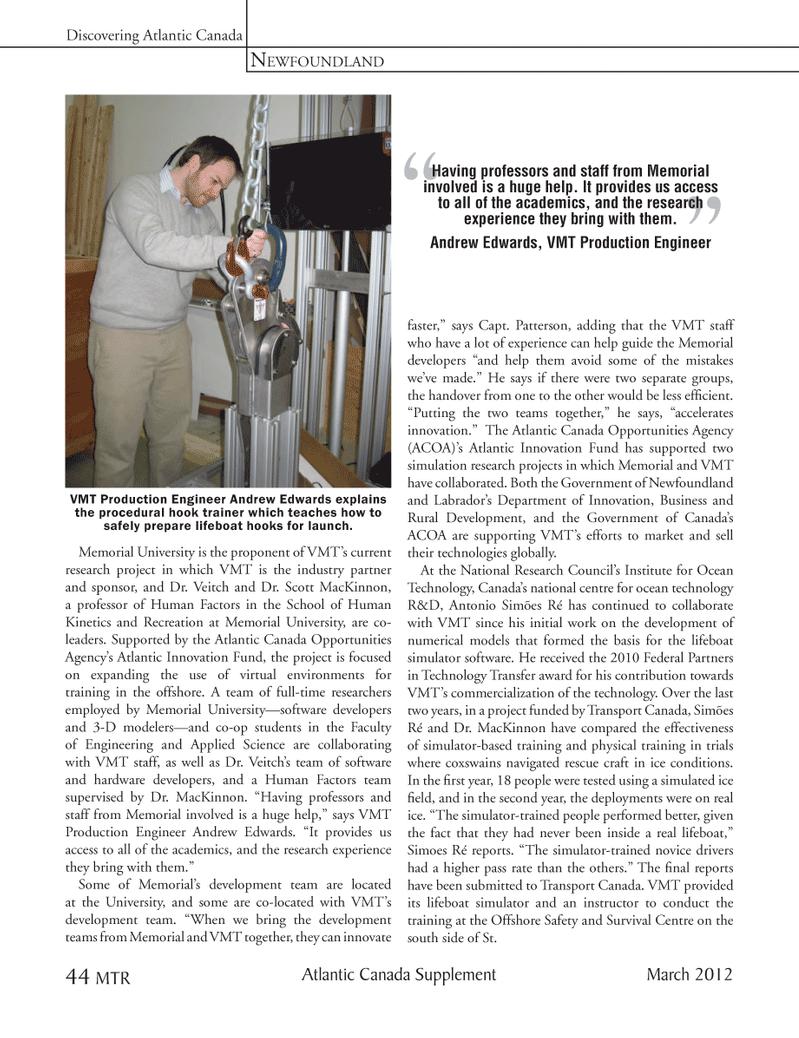 Marine Technology Magazine, page 44,  Mar 2012