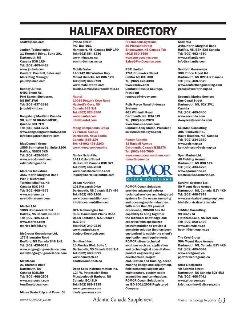 Marine Technology Magazine, page 63,  Mar 2012
