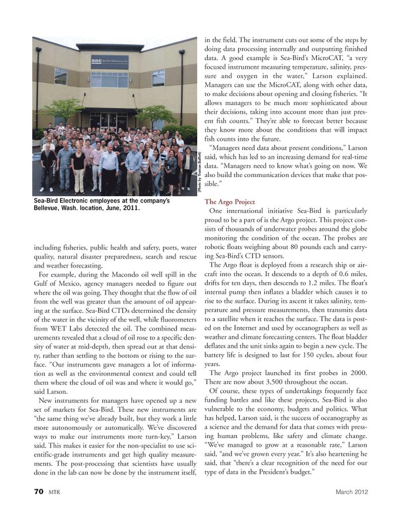 Marine Technology Magazine, page 70,  Mar 2012