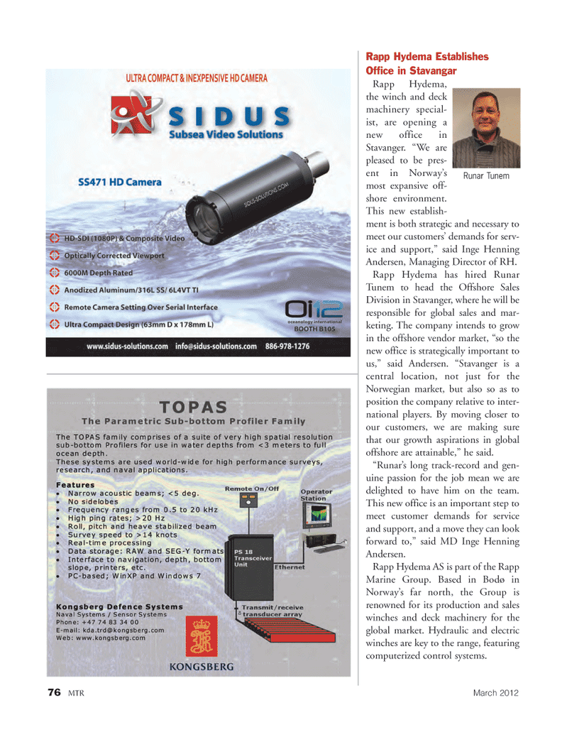 Marine Technology Magazine, page 76,  Mar 2012