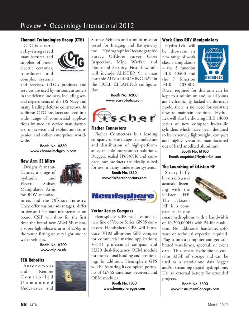 Marine Technology Magazine, page 88,  Mar 2012