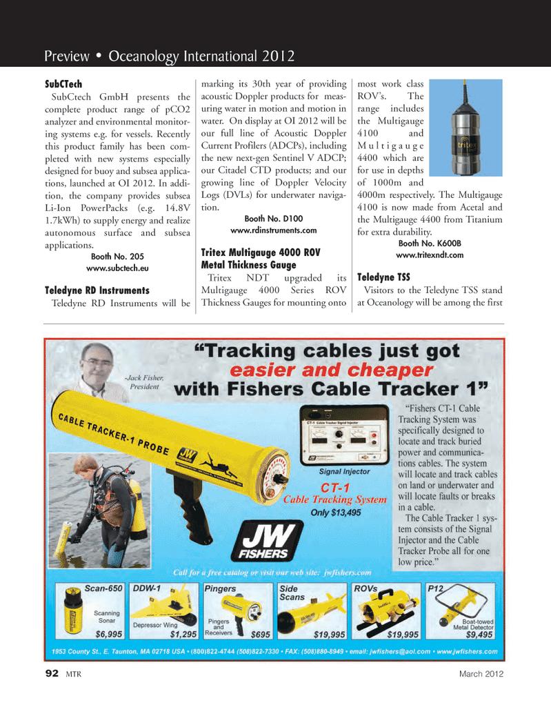 Marine Technology Magazine, page 92,  Mar 2012
