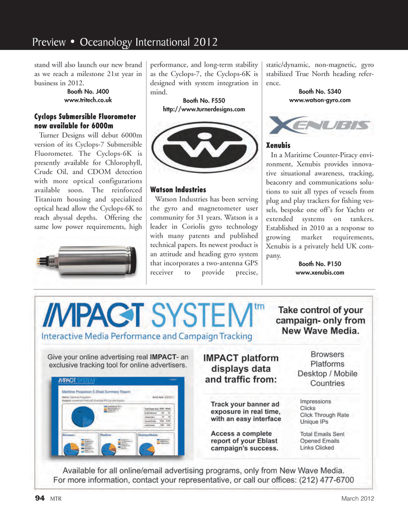Marine Technology Magazine, page 94,  Mar 2012
