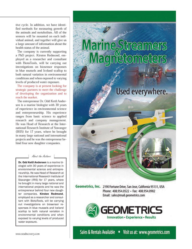 Marine Technology Magazine, page 11,  Jun 2012 Kirsten Redmond