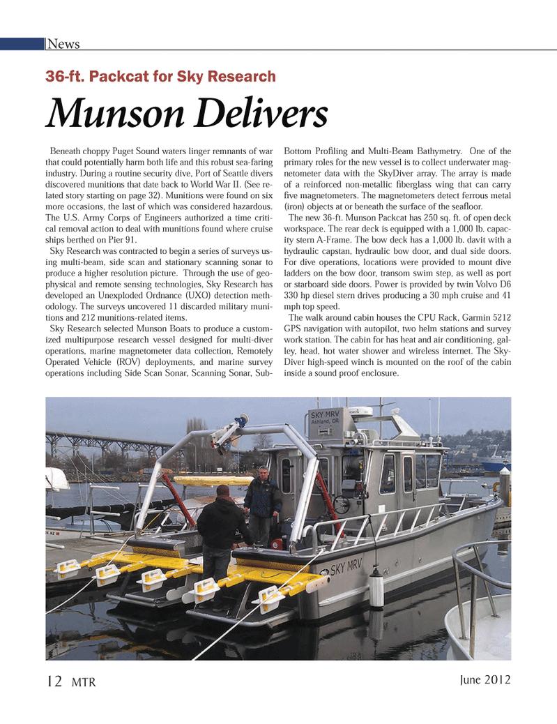 Marine Technology Magazine, page 12,  Jun 2012 Volvo D6