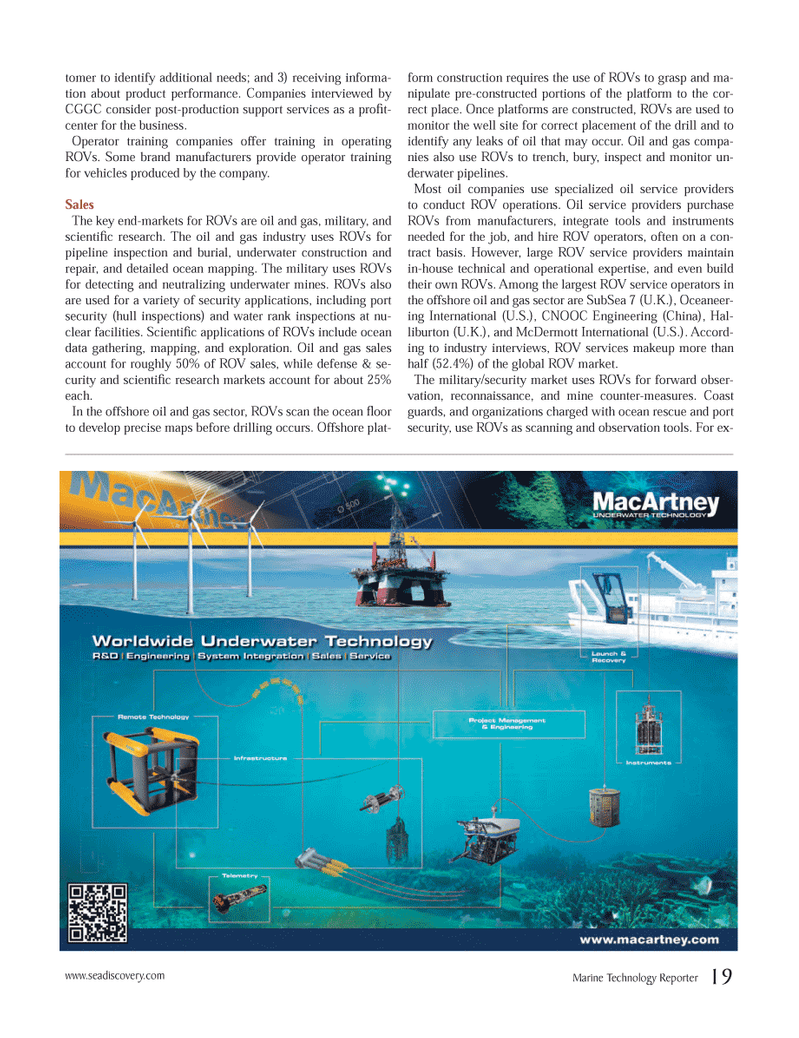 Marine Technology Magazine, page 19,  Jun 2012 oil service providers
