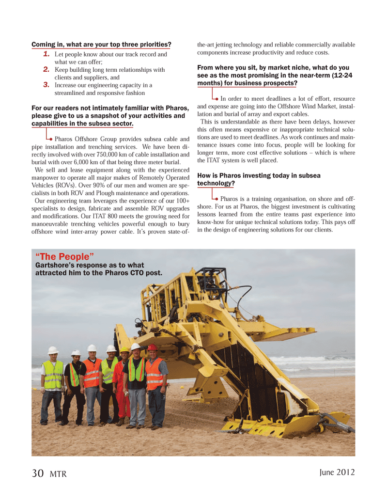 Marine Technology Magazine, page 30,  Jun 2012 lease equipment