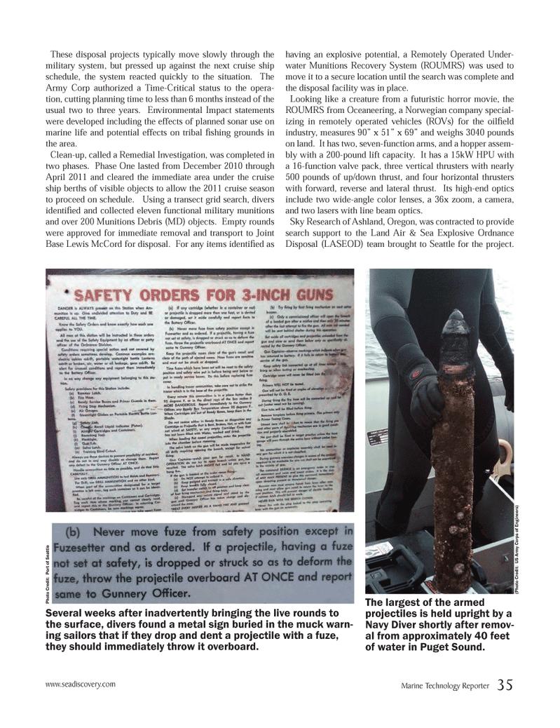 Marine Technology Magazine, page 35,  Jun 2012 United States Army