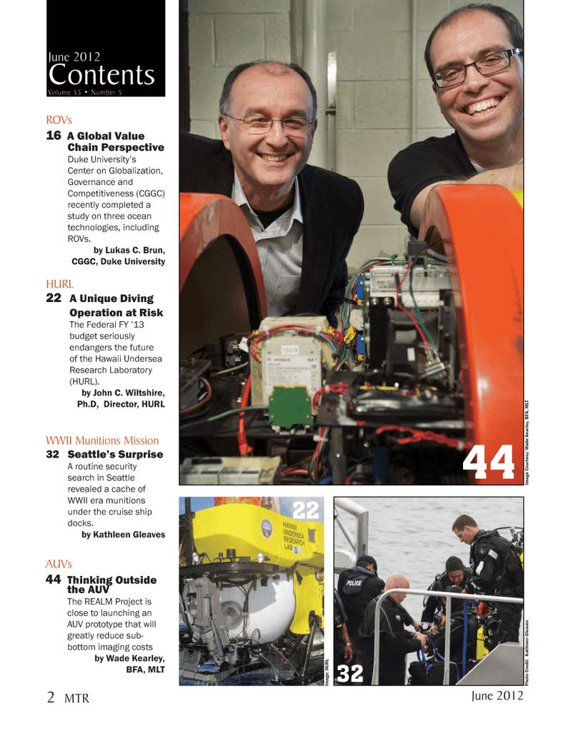 Marine Technology Magazine, page 2,  Jun 2012 Kathleen Gleaves