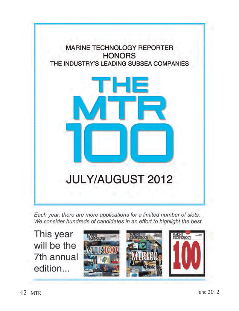 Marine Technology Magazine, page 42,  Jun 2012