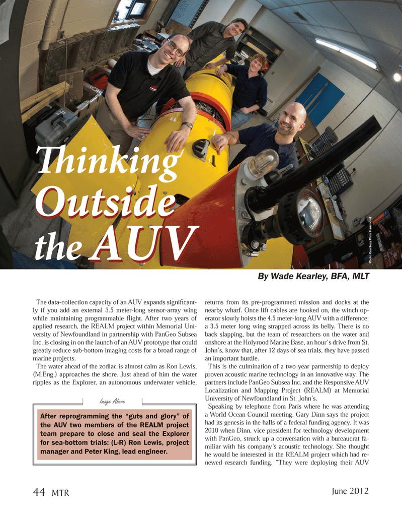 Marine Technology Magazine, page 44,  Jun 2012 Explorer