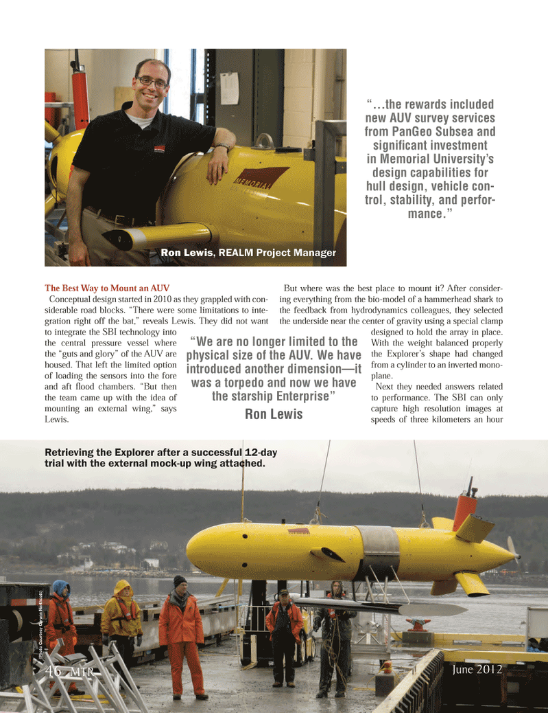 Marine Technology Magazine, page 46,  Jun 2012 survey services