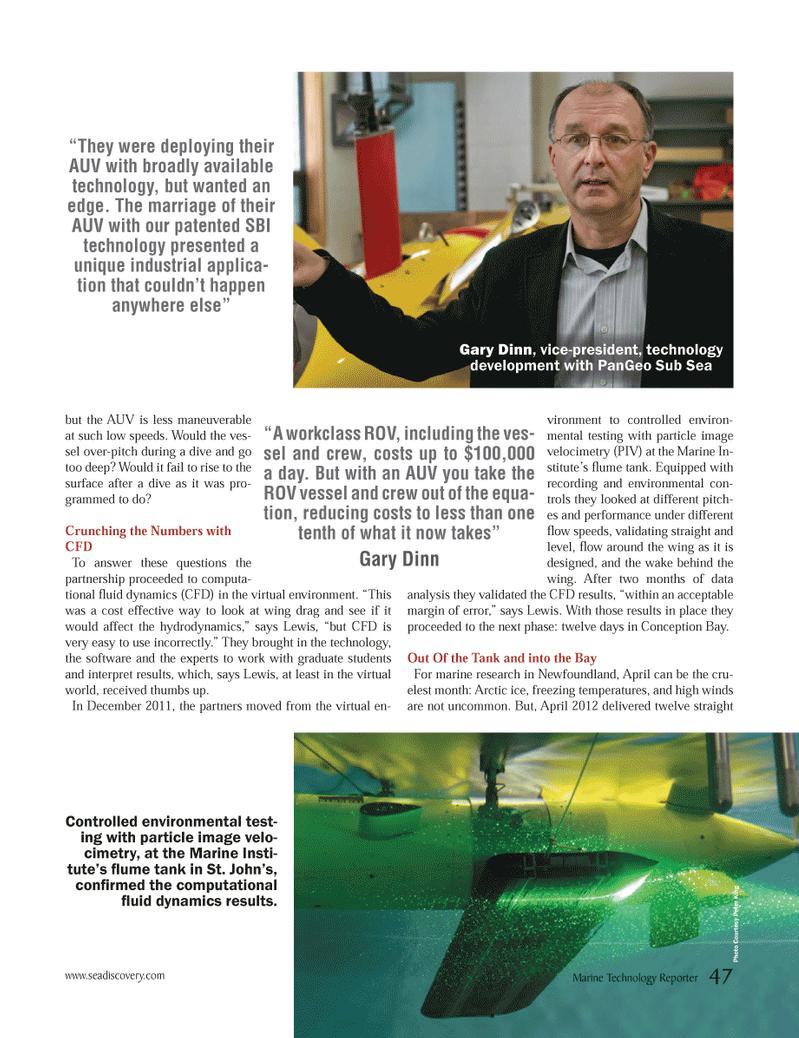 Marine Technology Magazine, page 47,  Jun 2012 Gary Dinn