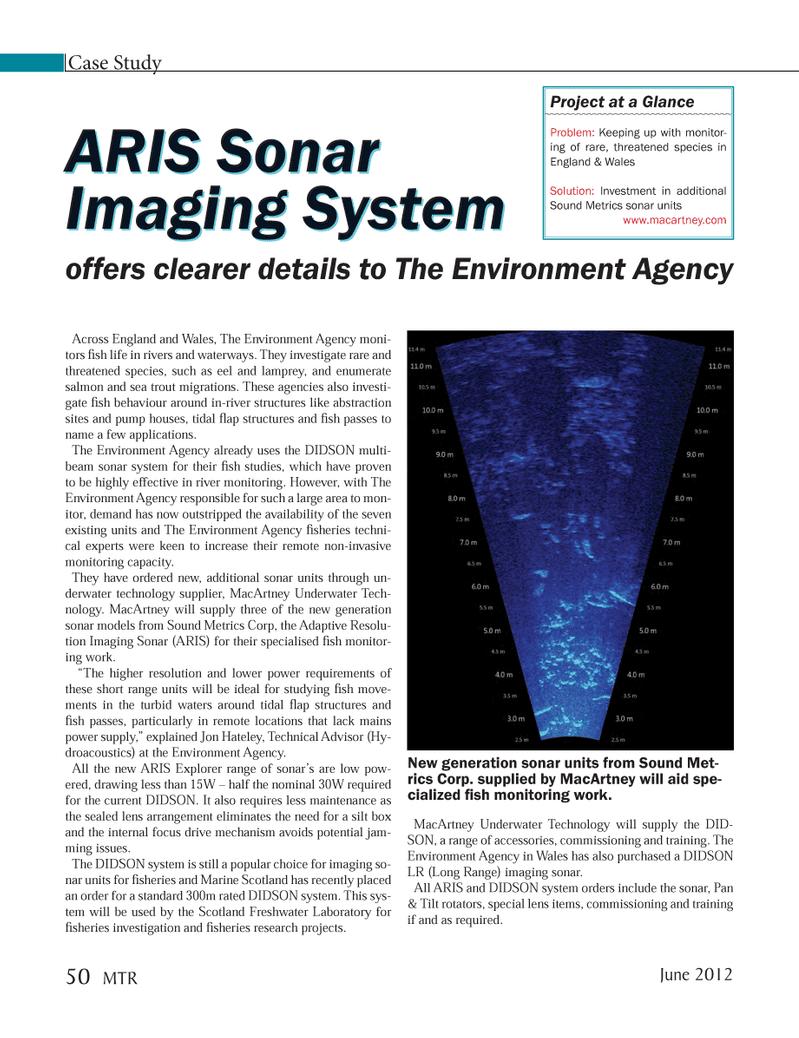 Marine Technology Magazine, page 50,  Jun 2012 derwater technology supplier