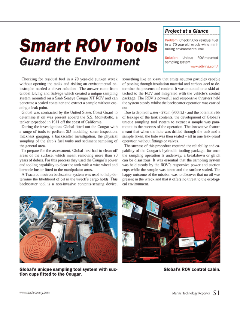 Marine Technology Magazine, page 51,  Jun 2012 United States Coast Guard