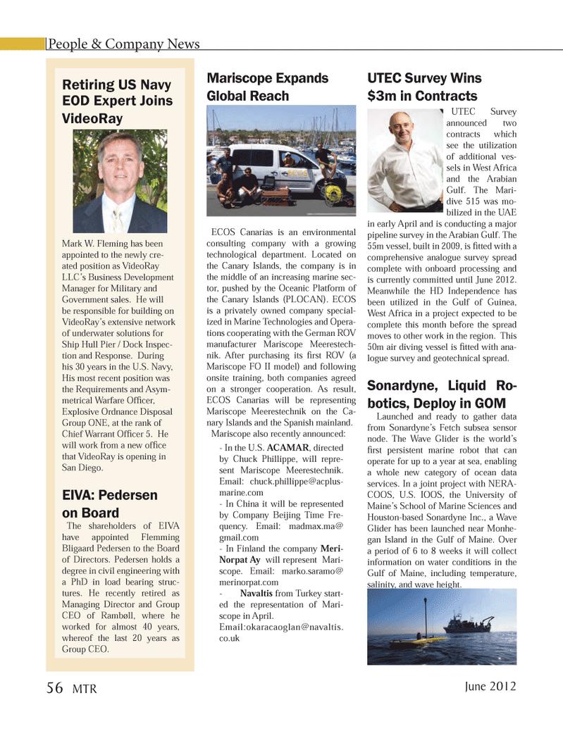 Marine Technology Magazine, page 56,  Jun 2012 Maine??s School of Marine Sciences