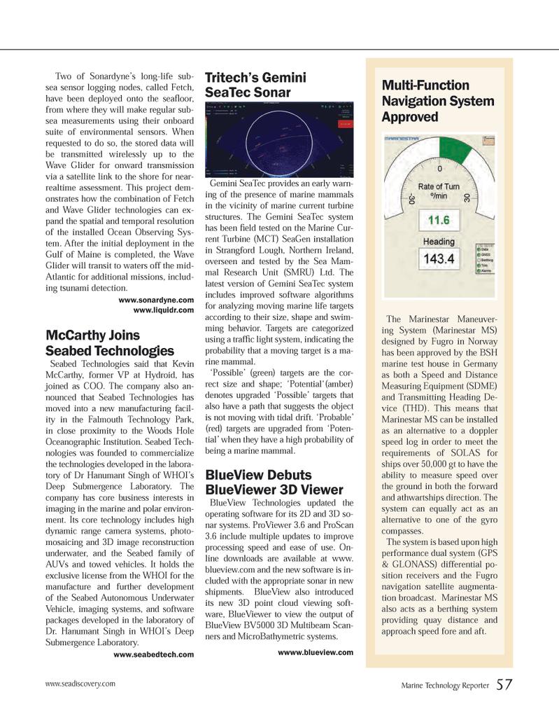Marine Technology Magazine, page 57,  Jun 2012