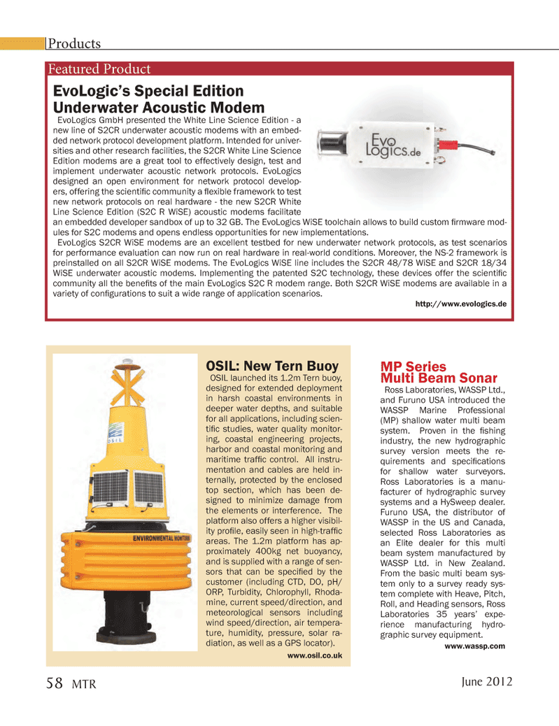 Marine Technology Magazine, page 58,  Jun 2012 underwater acoustic network protocols