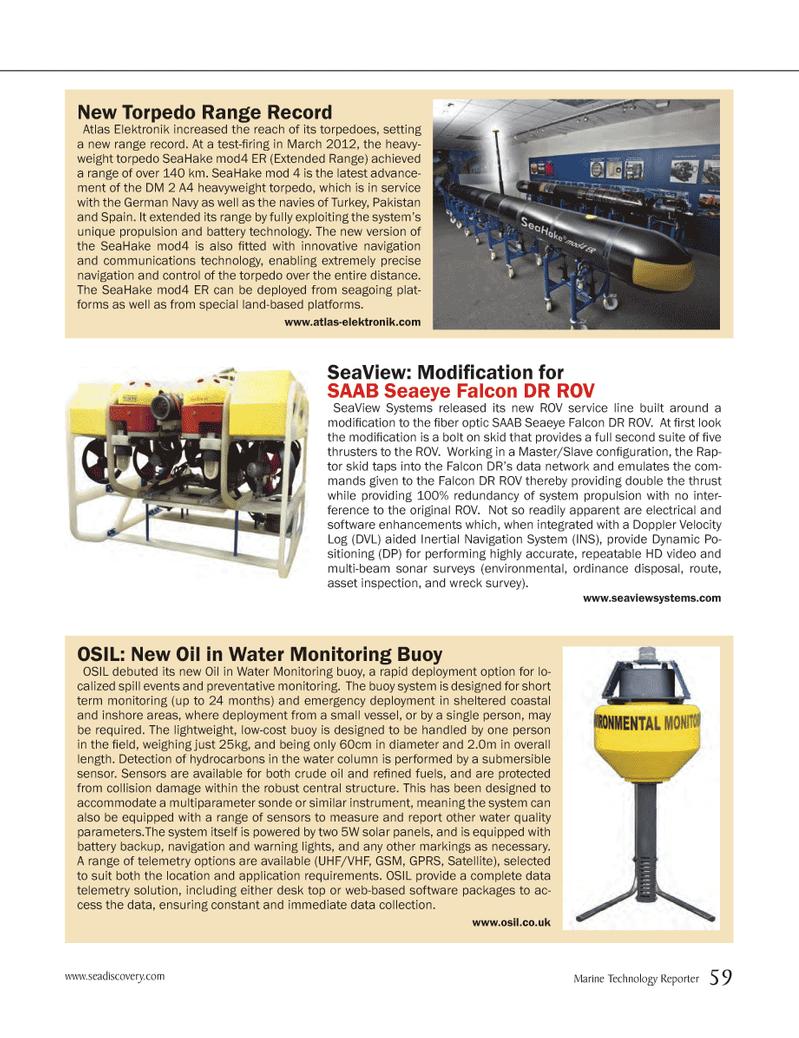 Marine Technology Magazine, page 59,  Jun 2012 battery technology