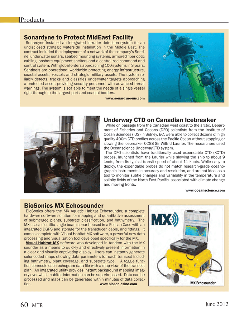 Marine Technology Magazine, page 60,  Jun 2012 British Columbia