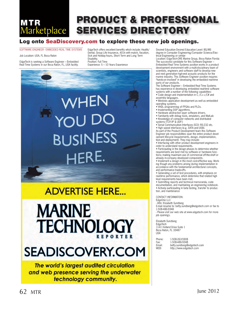 Marine Technology Magazine, page 62,  Jun 2012 operating systems