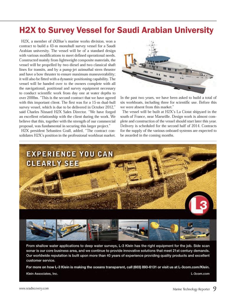 Marine Technology Magazine, page 9,  Oct 2012 survey equipment