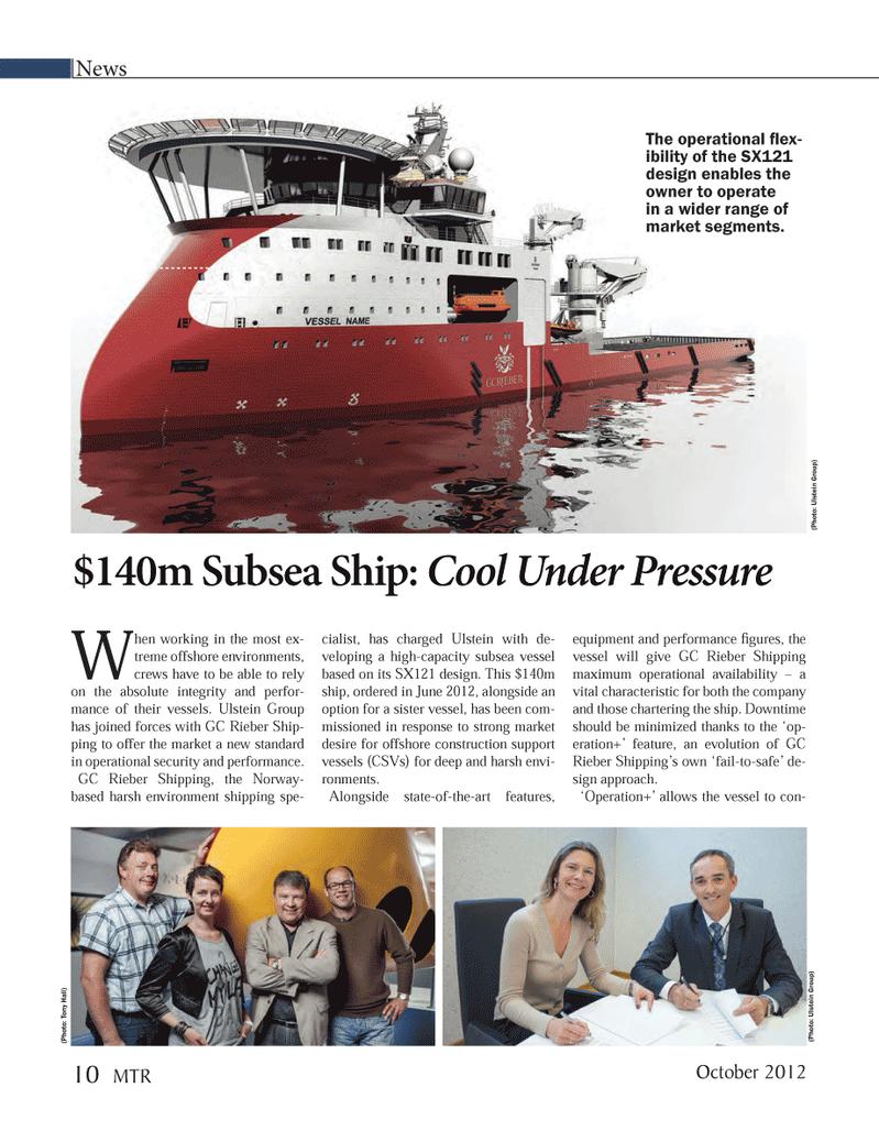 Marine Technology Magazine, page 10,  Oct 2012 GC Rieber Shipping
